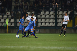 November 3, 2018 - Vercelli, Italy - Italian midfielder Tommaso Bianchi from Novara Calcio team playing during Saturday evening's match against Pro Vercelli team valid for the 10th day of the Italian Lega Pro championship  (Credit Image: © Andrea Diodato/NurPhoto via ZUMA Press)