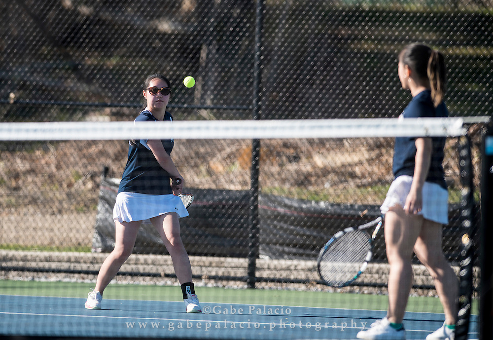 Girls Varsity Tennis at the Harvey School on April 15, 2016. (photo by Gabe Palacio)