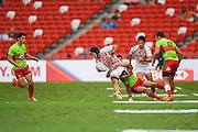 Masakatsu Hikosaka (JPN), APRIL 17, 2016 - Rugby : HSBC Sevens World Series, Singapore Sevens match Japan and Portugal at National Stadium in Singapore. (Photo by Haruhiko Otsuka/AFLO)