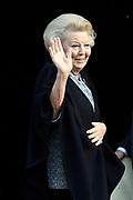 Zijne Majesteit Koning Willem-Alexander en Hare Majesteit Koningin Máxima houden de traditionele Nieuwjaarsontvangst voor Nederlandse genodigden in het Koninklijk Paleis Amsterdam.<br /> <br /> His Majesty King Willem-Alexander and Her Majesty Queen Máxima keep the traditional New Year Reception for Dutch guests in the Royal Palace in Amsterdam.<br /> <br /> op de foto / On the photo:  Prinses Beatrix / PPrincess Beatrix