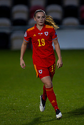 NEWPORT, WALES - Thursday, October 22, 2020: Wales' Lily Woodham during the UEFA Women's Euro 2022 England Qualifying Round Group C match between Wales Women and Faroe Islands Women at Rodney Parade. Wales won 4-0. (Pic by David Rawcliffe/Propaganda)