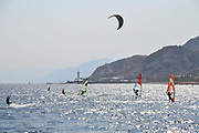 Israel, Eilat Parasurfing and windsurfing in the Red Sea