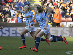 February 23, 2019 - Sheffield, England, United Kingdom - Manchester City's celebrations on winning the penalty shoot out during the  FA Women's Continental League Cup Final  between Arsenal and Manchester City Women at the Bramall Lane Football Ground, Sheffield United FC Sheffield, Saturday 23rd February. (Credit Image: © Action Foto Sport/NurPhoto via ZUMA Press)