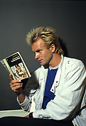 Sting backstage  The Police on tour 1980