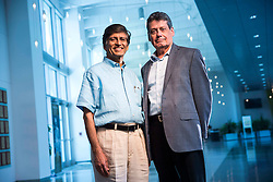 September 15, 2016 - Tampa, Florida, U.S. - WILL VRAGOVIC   |   Times.Dr. D. Yogi Goswami, left, and Dr. Bill Dalton, two USF professors who will be inducted Friday into the Inventors Hall of Fame, photographed in the USF Connect Building at the University of South Florida Research Park on Thursday, September, 15, 2016. (Credit Image: © Will Vragovic/Tampa Bay Times via ZUMA Wire)
