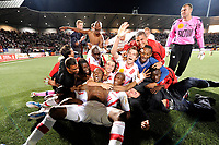 FOOTBALL - FRENCH CHAMPIONSHIP 2010/2011 - L1 - AS NANCY v RC LENS - 29/05/2011 - PHOTO GUILLAUME RAMON / DPPI - <br /> JOY OF NANCY'S PLAYERS AFTER THE MATCH