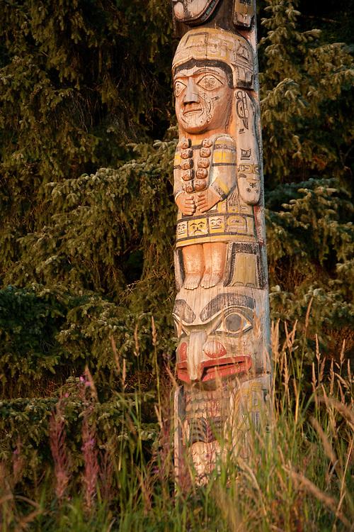 Totems at Totem Bight State Historic Park
