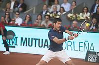 Serbian Novak Djokovic during Mutua Madrid Open Tennis 2017 at Caja Magica in Madrid, May 13, 2017. Spain.<br /> (ALTERPHOTOS/BorjaB.Hojas)