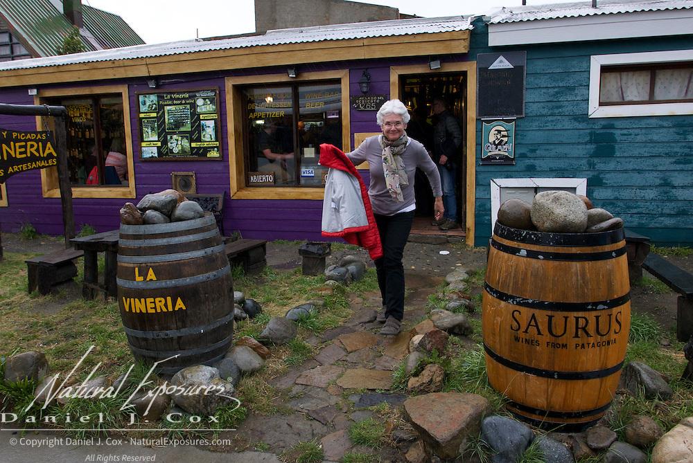 Shirley enjoying an afternoon at La Vineria. Patagonia