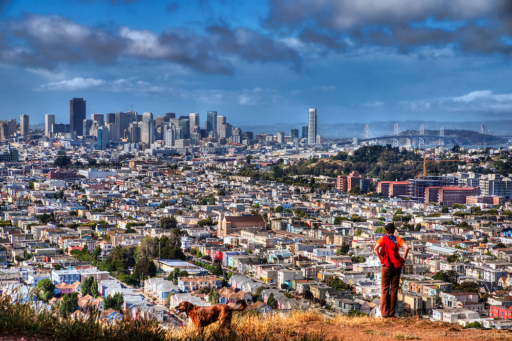 View from Bernal Heights, San Francisco