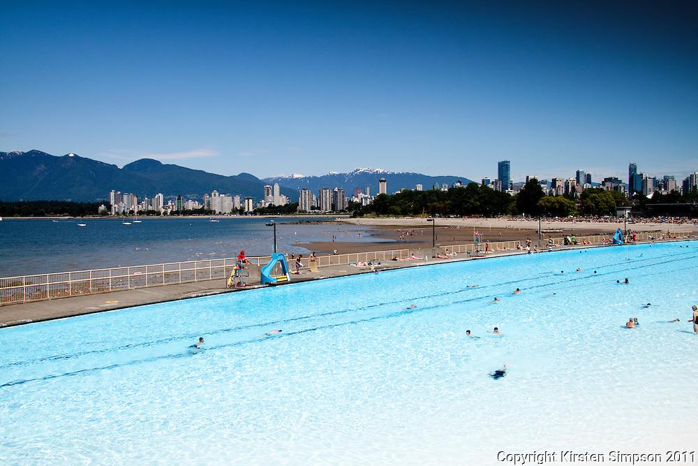 The public pool at Kitsilano beach