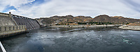 Grand Coulee Dam Panorama. Composite of seven images taken with a Nikon D700 camera and 35 mm f/1.4 mm lens (ISO 200, 18 mm, f/11, 1/1000 sec). Raw images processed with Capture One Pro and the panorama created using AutoPano Pro.
