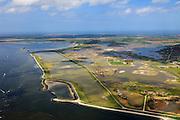 Nederland, Zeeland, Oosterschelde, 09-05-2013; inlagen ten zuiden van Serooskerke. Landinwaarts zijn polders onder water gezet in het kader van Plan Tuureluur. Links de Oosterschelde.<br /> <br /> QQQ<br /> luchtfoto (toeslag op standard tarieven);<br /> aerial photo (additional fee required);<br /> copyright foto/photo Siebe Swart.