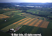 Southcentral Pennsylvania, Aerial Photographs, Farmlands, Mixed Cultivation and Contour Farming, Family Farms, Dauphin County, PA