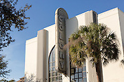 The old Colony Theatre in historic downtown Park Avenue in Winter Park, Florida.