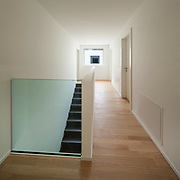 floor of a modern apartment, staircase view