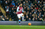 Joleon Lescott of Aston Villa in action Barclays Premier league match, Aston Villa v Leicester city at Villa Park in Birmingham, The Midlands on Saturday 16th January 2016.<br /> pic by Andrew Orchard, Andrew Orchard sports photography.