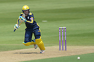 Hampshire all-rounder Liam Dawson during the Royal London One Day Cup match between Hampshire County Cricket Club and Essex County Cricket Club at the Ageas Bowl, Southampton, United Kingdom on 5 June 2016. Photo by David Vokes.