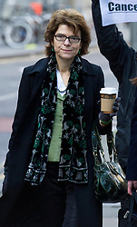 © Licensed to London News Pictures. 05/02/2013 London, UK. Vicky Pryce, ex-wife of former Cabinet Minister Chris Huhne, arrives at Southwark Crown Court on February 5th, 2013 in London. Huhne, 58, and his ex-wife Vicky Pryce are on trial over allegations that Pryce, 60, took penalty points on her driving licence in 2003 so that he could avoid prosecution. Chris Huhne pleaded guilty to perverting the course of justice..Photo credit : Simon Jacobs/LNP