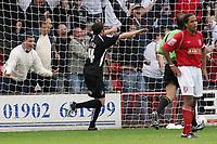 Photo: Paul Thomas.<br /> Walsall v Swansea. Coca Cola League 1.<br /> 27/08/2005.<br /> <br /> Kevin McLeod celebrates.
