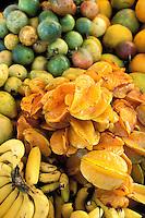 France - Département d'Outre mer de la Guadeloupe (DOM) - Pointe à Pitre - Marché de la Darse - Fruits
