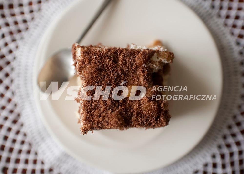 Zdjecie ilustracyjne N/z ciasto z kremem posypane tarta czekolada fot Michal Kosc / AGENCJA WSCHOD
