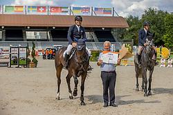 Houwen Kristian, J. van Meever, NED, Kiekeboe VM<br /> Nationaal Kampioenschap KWPN<br /> 5 jarigen springen final<br /> Stal Tops - Valkenswaard 2020<br /> © Hippo Foto - Dirk Caremans<br /> 19/08/2020