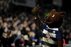 Grizzly Bear - Photo mandatory by-line: Dougie Allward/JMP - Tel: Mobile: 07966 386802 08/03/2013 - SPORT - RUGBY - Memorial Stadium - Bristol. Bristol v Nottingham - RFU Championship.