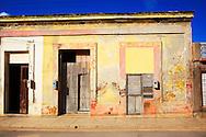 Houses in Gibara, Holguin, Cuba.