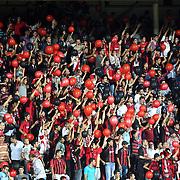 Gaziantepspor's supporters during their Turkish superleague soccer match Gaziantepspor between Trabzonspor at the Kamil Ocak stadium in Gaziantep Turkey on Sunday 02 September 2012. Photo by TURKPIX