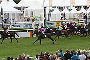 Horse Racing: Germany, Sparda-Derby-Week, Hamburg, 03.07.2013<br /> Ziel, Finish<br /> © Torsten Helmke