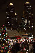 The holiday market in Union Square, with the Zeckendorf Towers in the background.