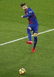 December 17, 2017 - Barcelona, Catalonia, Spain - Gerard Pique during the La Liga match between FC Barcelona v Real Club Deportivo de La Coruna, in Barcelona, on December 17, 2017. (Credit Image: © Joan Valls/NurPhoto via ZUMA Press)