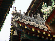 roof ornament at the Lama Temple in Beijing China