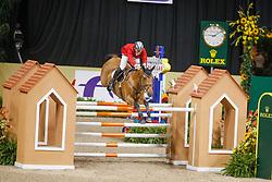 LAS VEGAS - FEI Weltcup Finale Dressur und Springen 2009<br /> <br /> WHITE Keean, Celena Z<br /> FEI World Cup Jumping Final II - Jump-Off/Stechen<br /> <br /> Las Vegas, Thomas and Mack Center<br /> 18. April 2009<br /> © www.sportfotos-lafrentz.de/Stefan Lafrentz