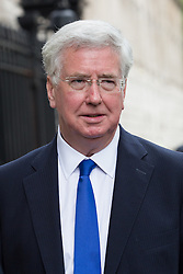 © Licensed to London News Pictures. 27/06/2016. LONDON, UK.  MICHAEL FALLON leaves after a cabinet meeting at 10 Downing Street this morning.  Photo credit: Vickie Flores/LNP