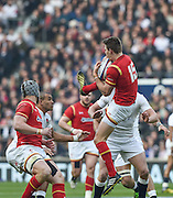 Twickenham. Great Britain.<br /> Liam WILLIAM, collect a clean catch from the high ball during the RBS Six Nations Rugby, England vs Wales at the RFU Twickenham Stadium. England.<br /> <br /> Saturday  12/03/2016 <br /> <br /> [Mandatory Credit; Peter Spurrier/Intersport-images]