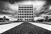 Palazzo della Civiltà Italiana o Colosseo Quadrato è un monumento dell'architettura fascista di Mussolini, realizzato dall'architetto Neo-classico Marcello Piacentini, 18 dicembre 2012<br /> Foto OneShot/Christian Mantuano