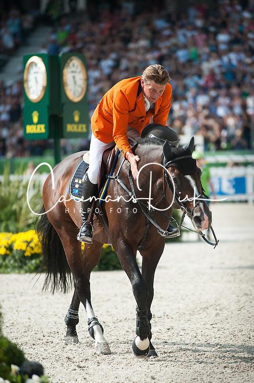 Jeroen Dubbeldam, (NED), Casall Ask - Show Jumping Final Four - Alltech FEI World Equestrian Games™ 2014 - Normandy, France.<br /> © Hippo Foto Team - Becky Stroud<br /> 07/09/2014