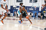 THOUSAND OAKS, CA Sunday, August 12, 2018 - Nike Basketball Academy. Joshua Christopher 2020 #16 of Mayfair HS attacks the defense. <br /> NOTE TO USER: Mandatory Copyright Notice: Photo by John Lopez / Nike