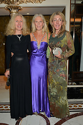 Left to right, daughters of David Shepherd, MELINDA HOBSON, MANY SHEPHERD and MELANIE LAMB at the David Shepherd Wildlife Foundation 30th anniversary Wildlife Ball at The Dorchester, Park Lane, London on 10th October 2014.