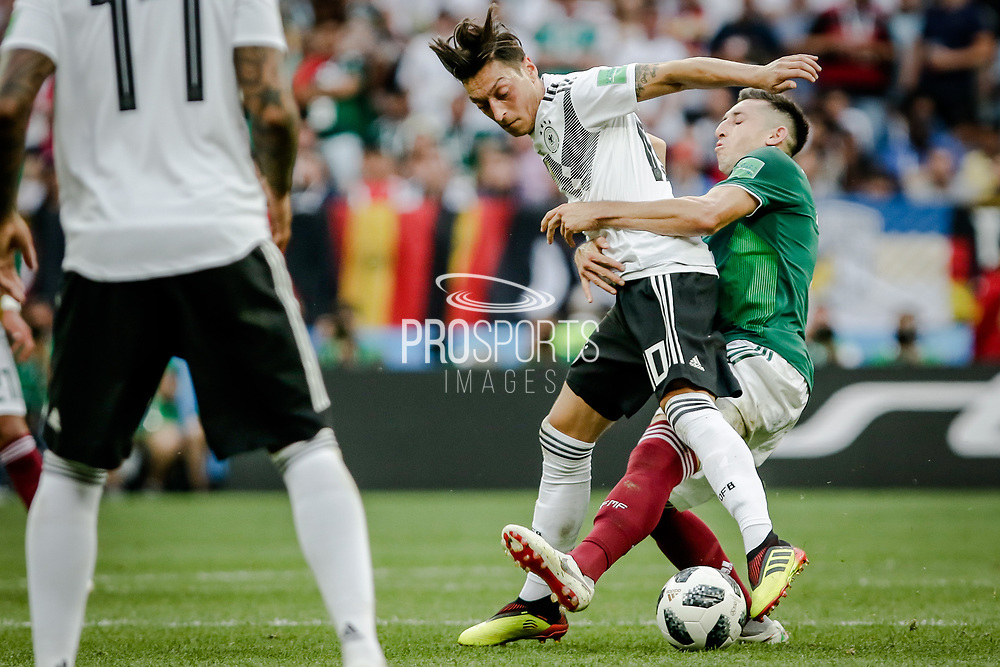 Mesut Oezil of Germany in duel with Andres Guardado of Mexico during the 2018 FIFA World Cup Russia, Group F football match between Germany and Mexico on June 17, 2018 at Luzhniki Stadium in Moscow, Russia - Photo Thiago Bernardes / FramePhoto / ProSportsImages / DPPI
