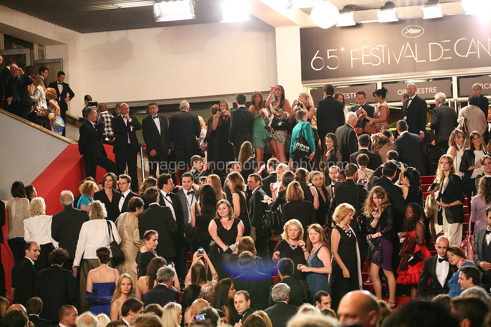 Guests arrive at the Heminway & Gellhorn gala screening at the 65th Cannes Film Festival France. Friday 25th May 2012 in Cannes Film Festival, France.