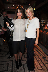 Left to right, MEG MATTHEWS and CAROLINE STANBURY at a party to celebrate the 1st anniversary of Gift-Library.com held at Bob Bob Ricard, 1 Upper James Street, London on 19th November 2009.