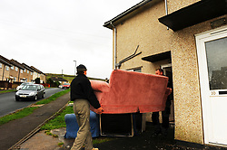 New residents move into Housing Association house, Skipton, North Yorkshire