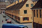 Yellow row houses, Kronprinzessegade. Copenhagen, Denmark.