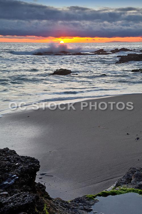 Victoria Beach Sunset In Laguna Beach California