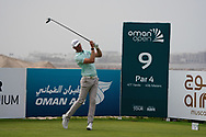 Sebastian Heisele (GER) on the 9th during Round 1 of the Oman Open 2020 at the Al Mouj Golf Club, Muscat, Oman . 27/02/2020<br /> Picture: Golffile | Thos Caffrey<br /> <br /> <br /> All photo usage must carry mandatory copyright credit (© Golffile | Thos Caffrey)