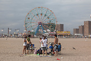 New York. Brooklyn.  Coney island in summer . brooklyn  New York - United States / Coney island en ete.  Brooklyn  New York - Etats Unis