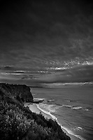 Fantastic stormy skies along the Great Ocean Road, Australia on a winter afternoon.